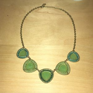 Turquoise/sea foam green statement necklace